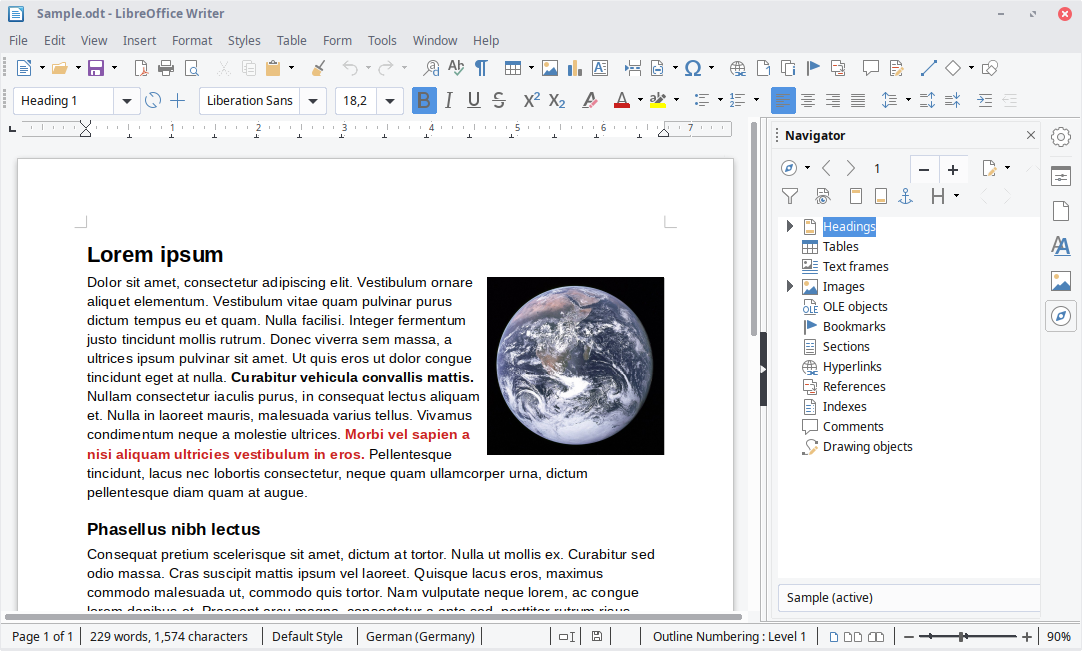 Screenshot LibreOffice
